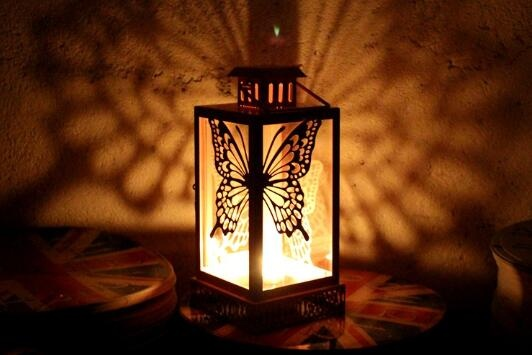 New style butterfly decorative color storm lantern