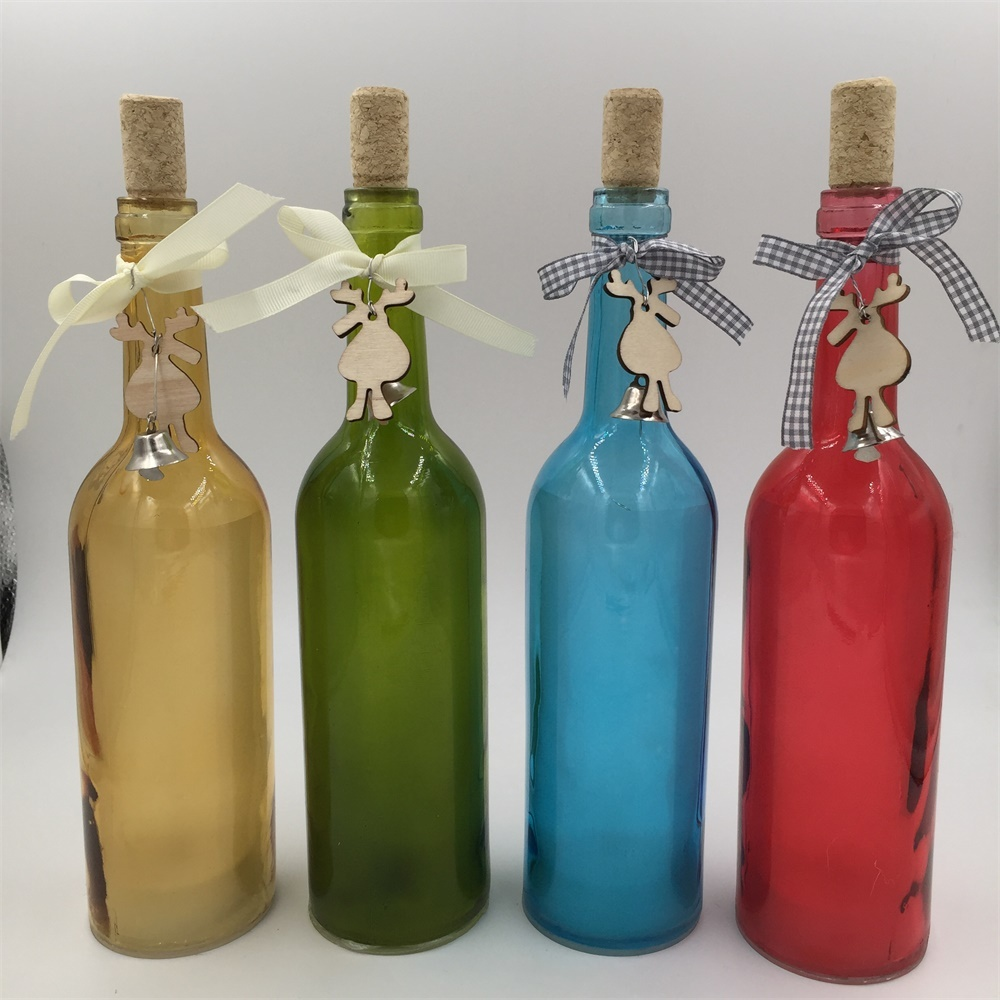 Glass bottle with star string LED Light Insert home decoration