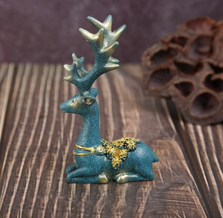 Polyresin Deer Figure Resin House Decoration Statue Crafts