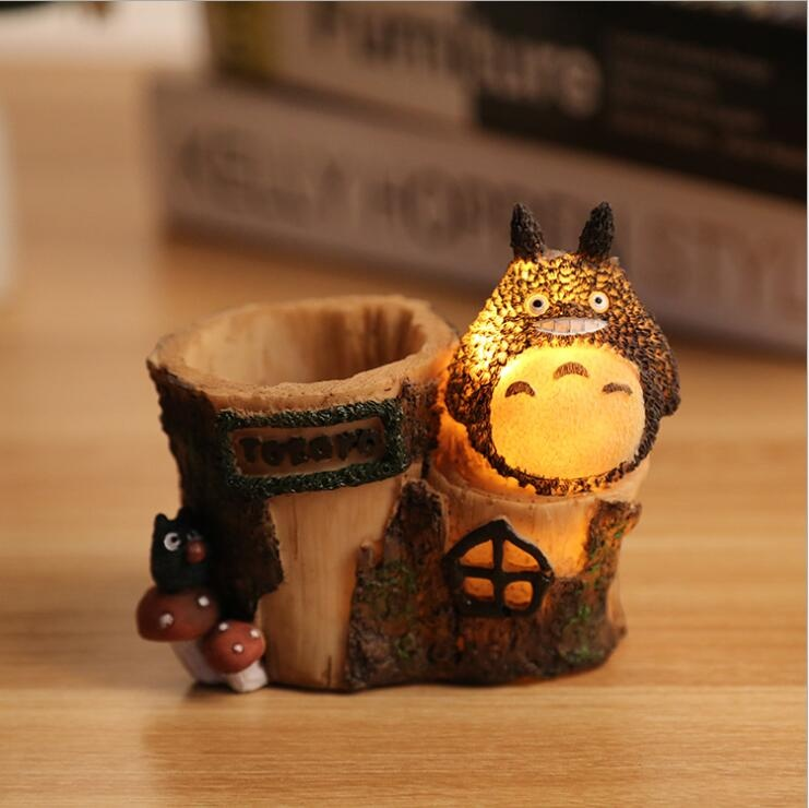 polyresin pen holder table decoration Totoro design