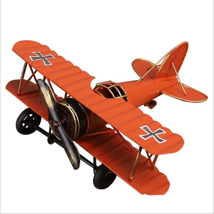 lron retro aircraft model decoration
