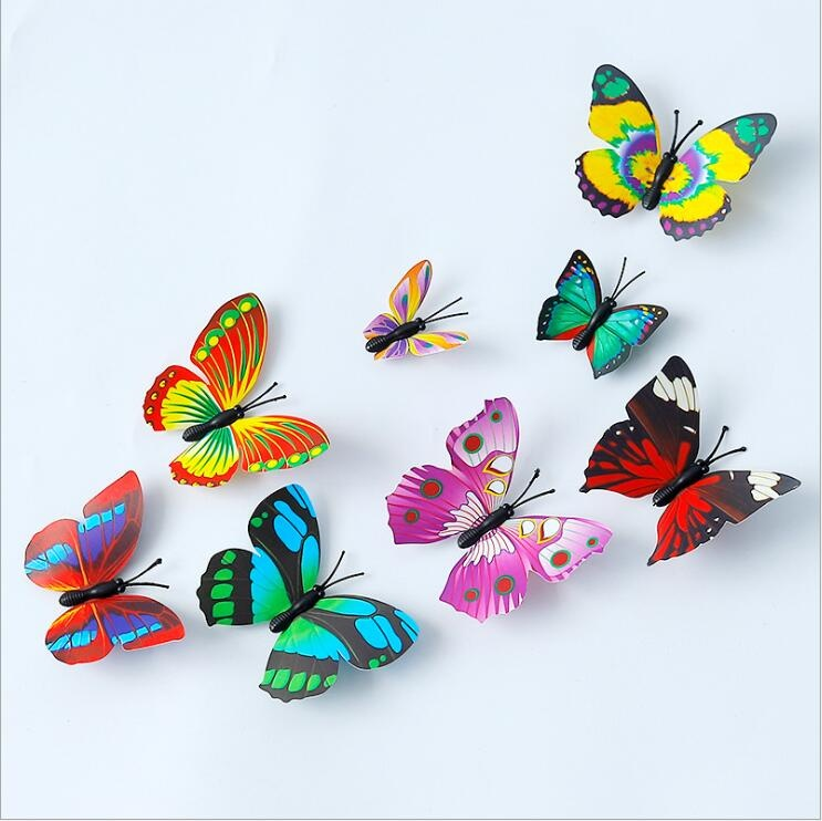 3D Simulation Butterfly fridge magnet ,wall/home décor