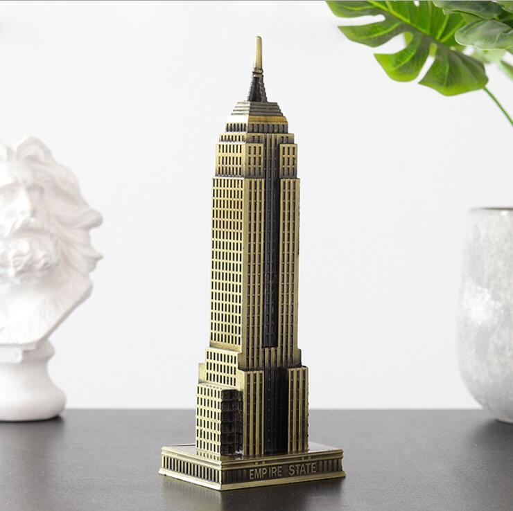 New York metal crafts Empire state building model souvenir gift table decor