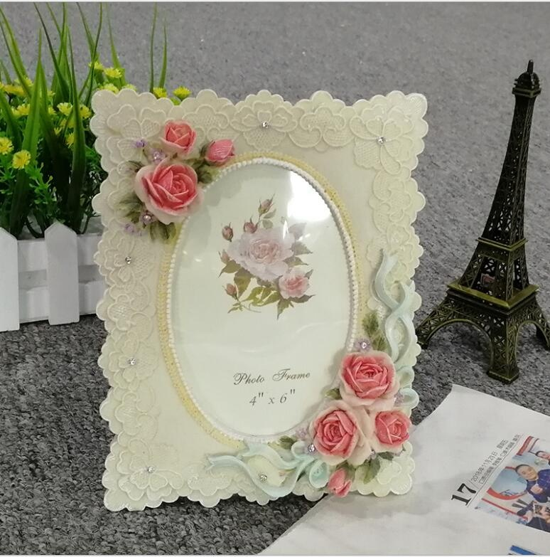 Beautiful Flower design Resin 6inch Photo Picture Frame