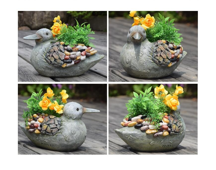 European Bird Shape Flower Pot Garden Decor