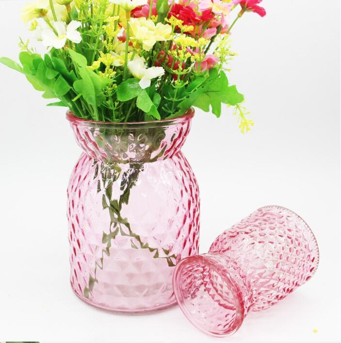 Glass flower vase table decoration /holder simple style