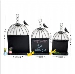 metal cage lantern with blackboard home decoration