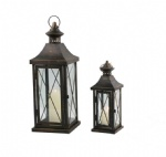 Set of 2 European festival garden out door hurricane lantern