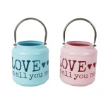 festival metal lantern with love design