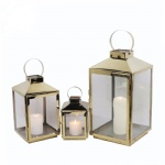 Metal lantern stainless steel candle holder indoor and outdoor decoration