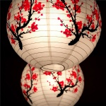 Traditional Plum Blossom Chinese New Year Flower Paper Lantern