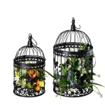 Metal Bird Cage in black Iron home and garden Decoration lantern