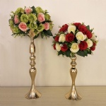 Wedding event gold silver metal flower vase candle holder