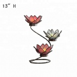 Decorative Lotus Glass Tealight Candle Holder