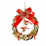 Red Flower Gold Bell Snowflake Indoor and Outdoor Christmas Decoration