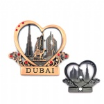 Exquisite Custom 3D Dubai Tourist Souvenir Metal Fridge Magnets
