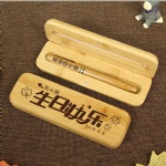 Customized Logo gifts bamboo wooden pen sets