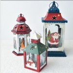 Outside decorative hanging garden Hollow windproof metal Christmas Moroccan lantern decor