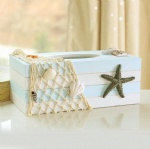 novelty wooden Tissue box nautical style with star decor /tissue paper holder