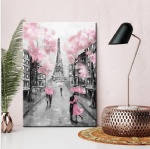 Famous romatic Eiffel Tower Paris street scene wall art canvas painting wall decor