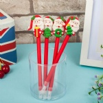 Handicraft Gift Carrying Santa Claus Ball point Pen Polymer Clay Ballpen Christmas Gift