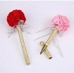 Flower with Ribbon decoration Signature Wedding Gift Pen promotion gift