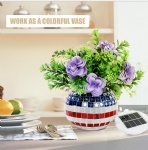 colorful Round Glass Mosaic solar led light glass vase