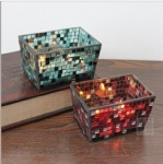 handmade mosaic glass rectangle storage box table decoration