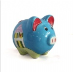 cute resin pig shape coin bank saving pot saving bank for children gift