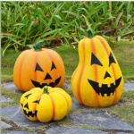 fiberglass Halloween pumpkin for outdoor yard decoration