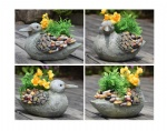 resin bird figurine flower planter for garden decor flower pot