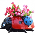 polyresin Ladybug statue animal planter for garden decoration flower pot