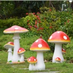 Big Resin Mushroom Garden Statue Garden Decor for Outdoor Gardens