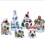 Resin Christmas White Snow Village House for christmas decor