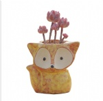 Mini Cute Animal fox Ceramic Succulent Planter Flower Pot