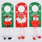 Christmas House Decorative Door Hanger Felt Material Christmas hotel door knob Hanger