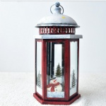 Christmas style lantern hanging red metal candle holders lantern christmas decoration